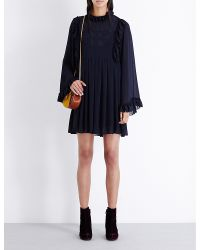 See By Chloé | Blue Short Dress | Lyst