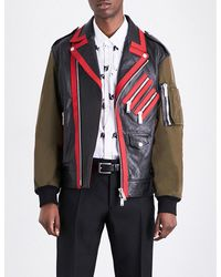 DSquared²   Red Kiodo Leather And Shell Jacket for Men   Lyst