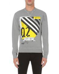 DSquared² - Gray Dean Graphic-print Cotton Sweatshirt for Men - Lyst