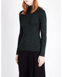 Diane von Furstenberg   Black Tess Knitted Turtleneck Jumper   Lyst