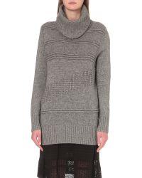 Diane von Furstenberg - Gray Talassa Wool And Cashmere-blend Turtleneck Jumper - Lyst
