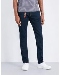 7 For All Mankind | Blue Slimmy American Slim-fit Straight Jeans for Men | Lyst
