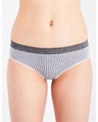 Baserange - Purple Seamless Bell Stretch-knit Briefs - Lyst