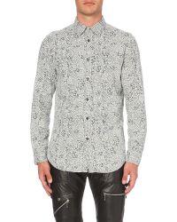 DIESEL | White S-five Slim-fit Cotton Shirt for Men | Lyst
