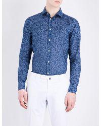 Richard James   Blue Floral Circles Contemporary-fit Cotton Shirt for Men   Lyst