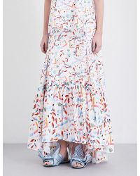 Peter Pilotto | White Gem-print Stretch-cotton Skirt | Lyst