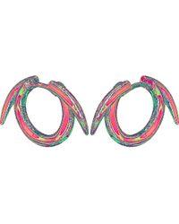 Shaun Leane | Metallic Sterling Silver Thorned Hoop Earrings | Lyst