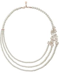 Shaun Leane | Metallic Rose Gold Cherry Blossom Diamond Necklace | Lyst