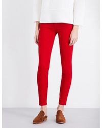 7 For All Mankind | Red The Skinny Super-skinny Sateen Jeans | Lyst