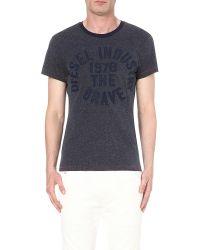 DIESEL | Blue T-diego-gc Cotton-jersey T-shirt for Men | Lyst