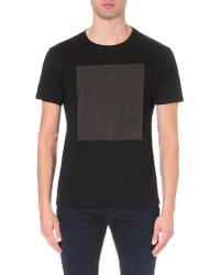 DIESEL | Black T-joe-hh Printed Cotton-jersey T-shirt for Men | Lyst