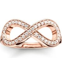 Thomas Sabo   Metallic Glam & Soul Rose Gold-plated And Zirconia-pavé Infinity Ring   Lyst