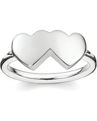 Thomas Sabo | Metallic Classic Sterling Silver Merging Hearts Ring | Lyst