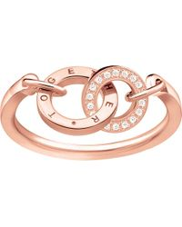Thomas Sabo - Metallic Together Forever 18ct Rose Gold-plated Ring - Lyst