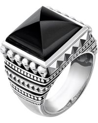 Thomas Sabo | Metallic Rebel At Heart Sterling Silver And Onyx Signet Ring for Men | Lyst
