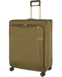 Briggs & Riley - Green Extra Large Expandable Spinner Suitcase Trolley for Men - Lyst