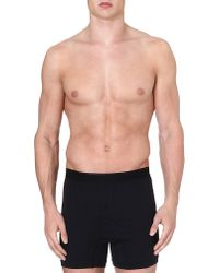 Sunspel | Black Superfine Egyptian Cotton Two-button Boxer Shorts for Men | Lyst