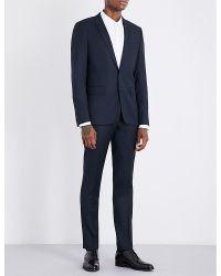Sandro | Blue Birdseye Wool Blazer for Men | Lyst