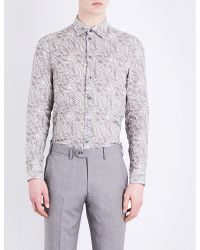 Armani - Multicolor Floral Pure Linen Shirt for Men - Lyst