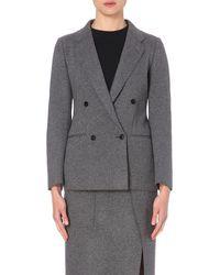 JOSEPH | Gray Blazz Wool-blend Jacket | Lyst