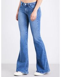 Guess - Blue Guess Originals X A$ap Rocky Bell Bottom Flare Low-rise Jeans - Lyst