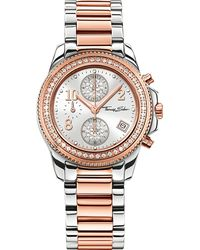 Thomas Sabo | Multicolor Glam And Soul Two-tone Zirconia Chronograph Watch | Lyst