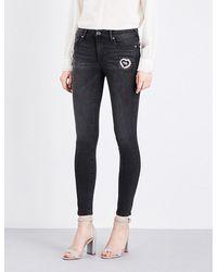 True Religion | Blue Halle Skinny Stretch-denim Jeans | Lyst