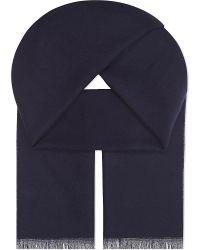 Johnstons   Blue Classic Merino-wool Scarf for Men   Lyst