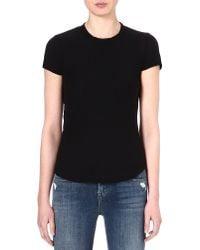 James Perse | Black Crew-neck Cotton T-shirt | Lyst