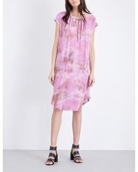 Raquel Allegra | Multicolor Tie Dye-print Silk And Jersey Dress | Lyst