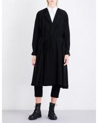 Y's Yohji Yamamoto - Black Notch-lapel Woven Dress - Lyst