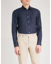 Gieves & Hawkes - Blue Regular-fit Linen Shirt for Men - Lyst