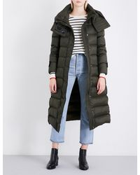 Burberry - Green Kanefield Quilted Down And Feather-blend Puffer Coat - Lyst