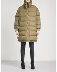 Balenciaga - Natural Pulled Down And Feather-blend Puffer Coat - Lyst