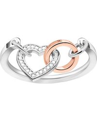 Thomas Sabo - Metallic Together Heart Sterling Silver And Diamond Ring - Lyst