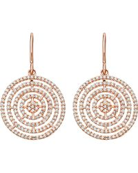 Astley Clarke | Metallic Icon Aura 14ct Rose Gold And Diamond Earrings | Lyst