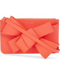Delpozo - Multicolor Mini Bow Neon Leather Clutch - Lyst