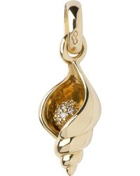 Links of London - Metallic Seashell 18-carat Gold Charm - Lyst