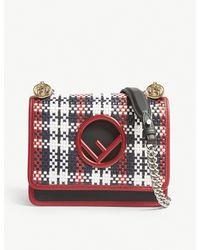 Lyst - Fendi  kan I  Woven Shoulder Bag in Red 684be818357e1
