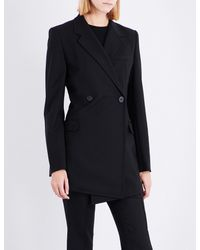 cac0142ce622 Helmut Lang Deconstructed Stretch-wool Blazer Dress in Black - Lyst