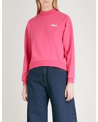 3ddc10fb9ff6 Lyst - Fila Oversized Cotton-jersey Sweatshirt in Pink