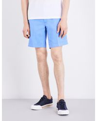 Polo Ralph Lauren - Blue Straight-fit Cotton Shorts for Men - Lyst