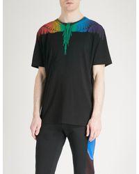Marcelo Burlon - Black Feather-print Cotton-jersey T-shirt for Men - Lyst