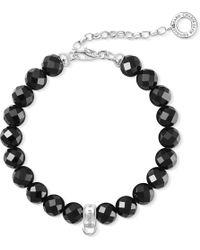 Thomas Sabo - Black Charm Club Obsidian Bead Charm Bracelet - Lyst