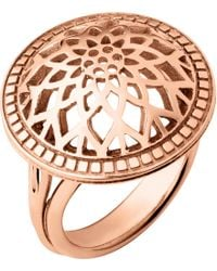 Links of London - Metallic Timeless 18ct Rose-gold Vermeil Domed Ring - Lyst