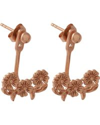 Olivia Burton - Multicolor Floral Lace-detail 18ct Rose Gold-plated Jacket Earrings - Lyst