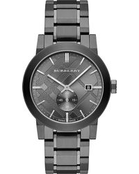 Burberry | Gray Bu9902 Stainless Steel Watch for Men | Lyst