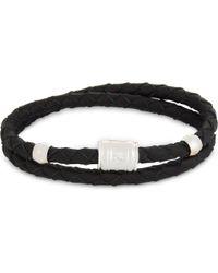Miansai - Black Double-wrap Leather Bracelet for Men - Lyst