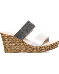 Carvela Kurt Geiger - Gray Sybil Textured Wedge Sandals - Lyst