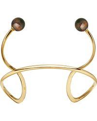 Astley Clarke - Metallic Yves Yellow-gold Vermeil & Tigers Eye Cuff - Lyst